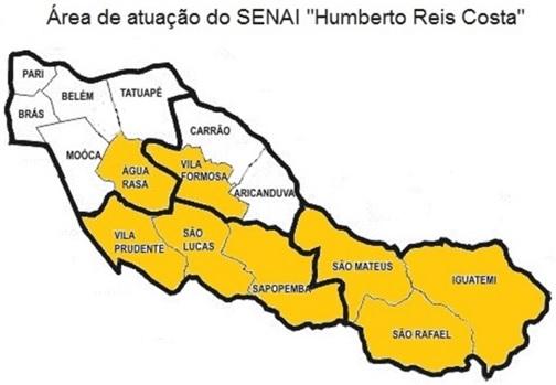 """Área de Atuação SENAI """"Humberto Reis Costa"""""""